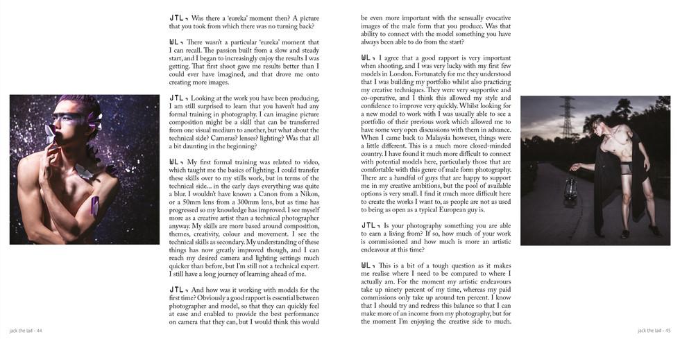 Interview Magazine Jack the Lad UK Waynn Low