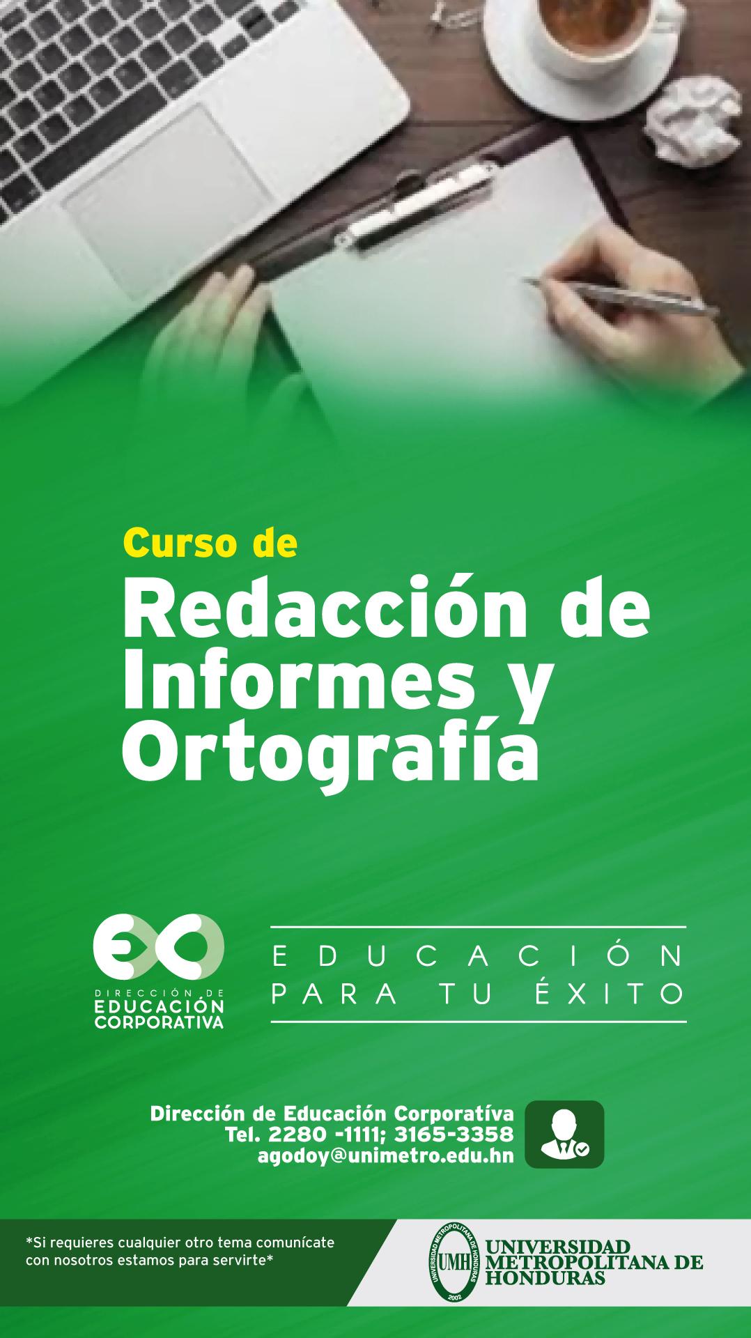 Redacción de Informes y Ortografía