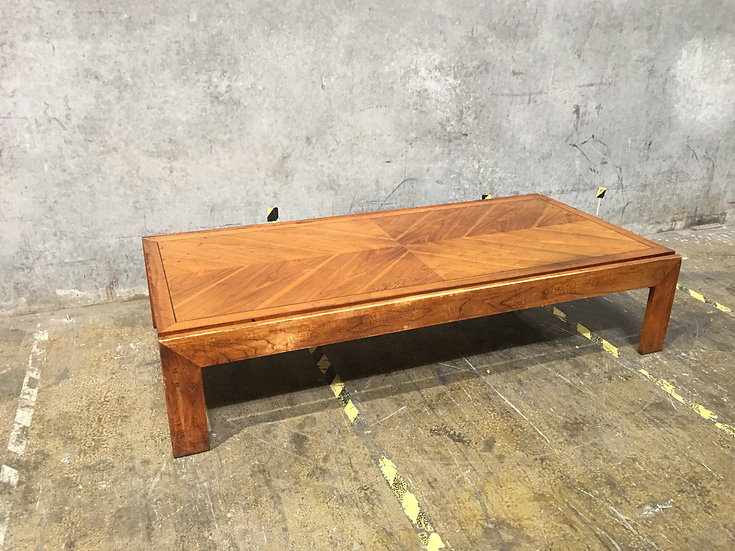 Lane Oak and Walnut Large Coffee Table