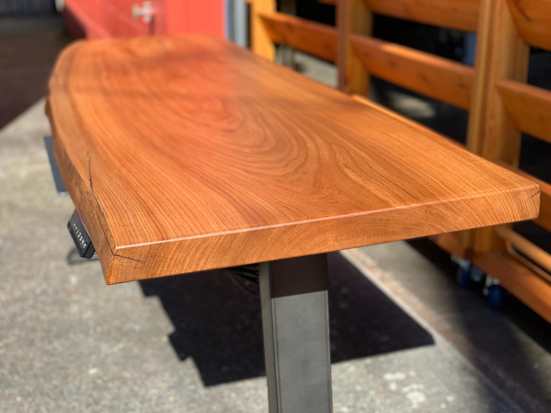 Elm Live Edge Sit-Stand Desk