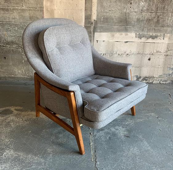 Edward Wormley for Dunbar Pendleton Wool Lounge Chair