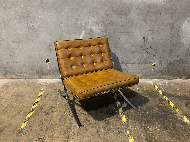 Mies Van Der Rohe Brown Barcelona Chair