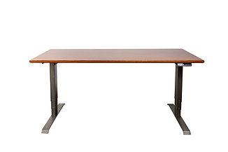 Sapele Premier Sit-Stand Office Desk