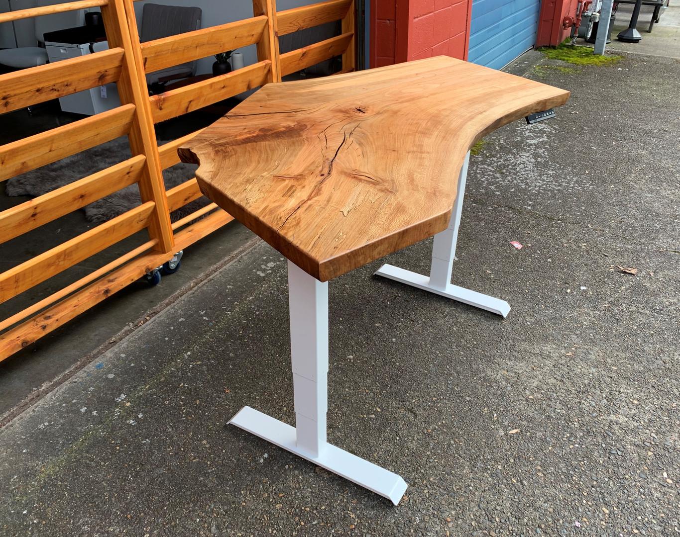 Sycamore Live Edge Sit-Stand Desk