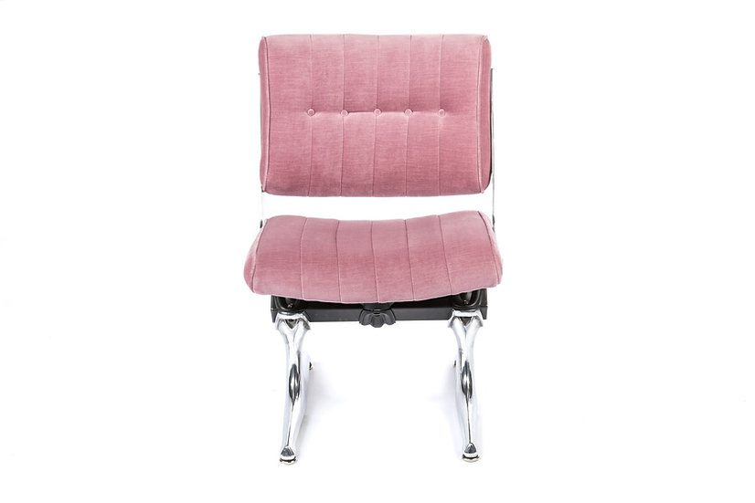 PDXoriginals Powell Accent Chair - Pink Velvet