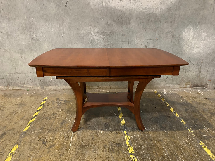 Mahogany Extendable Dining Room Table