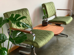 PDXoriginals_Green_Velvet_Airport_Bench_