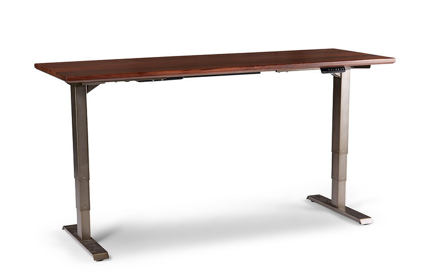 Black Walnut Premier Sit-Stand Office Desk