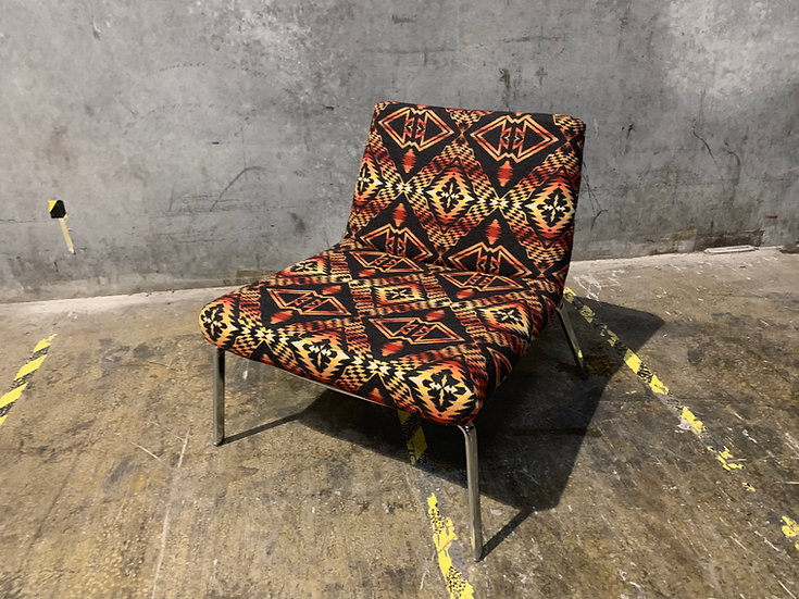 Pendleton Wool Mid-Century Slipper Chair