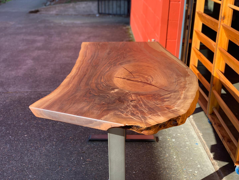 Black Walnut Live Edge Sit-Stand Desk