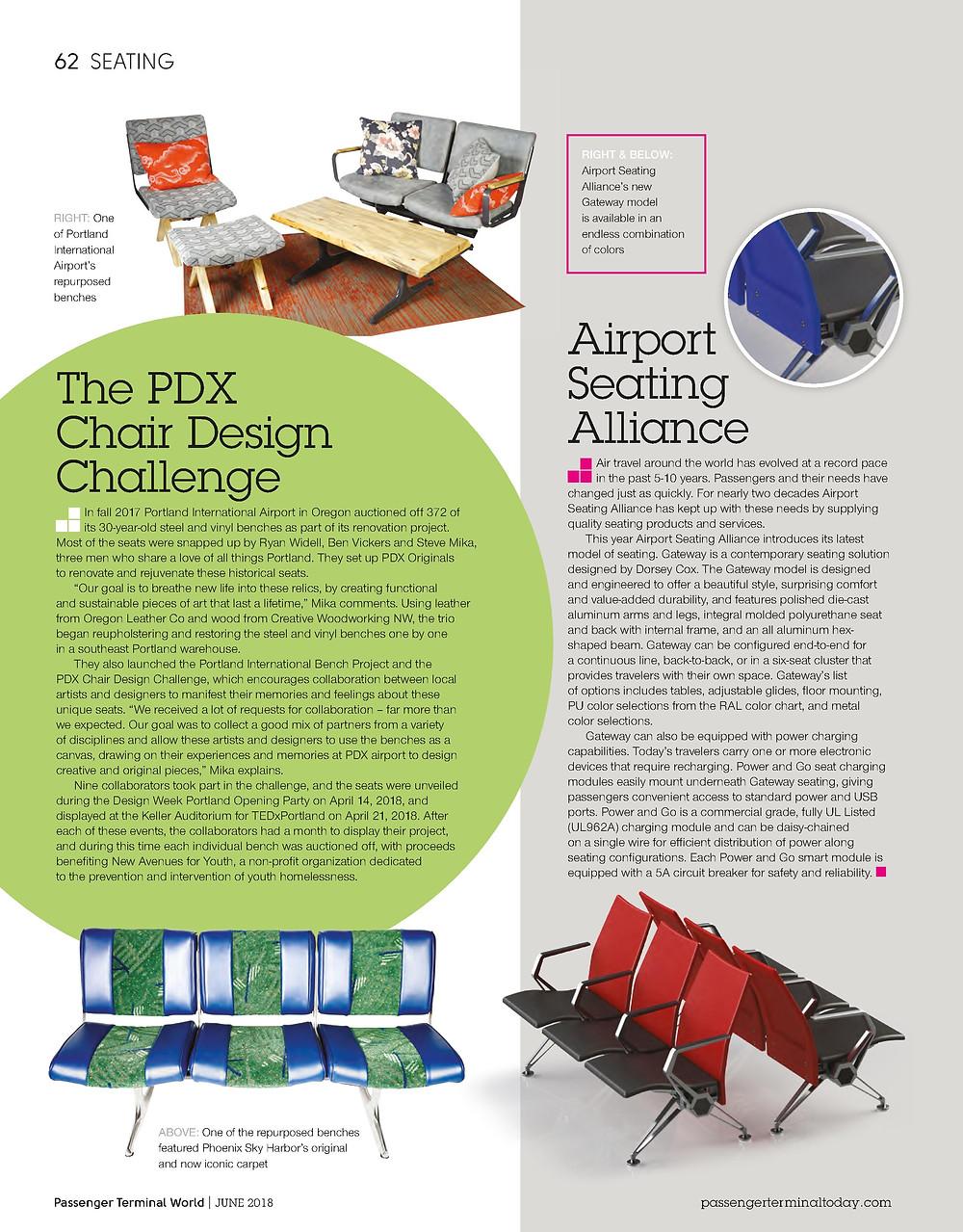 PDXoriginals Article - Passenger Terminal World Magazine – June 2018