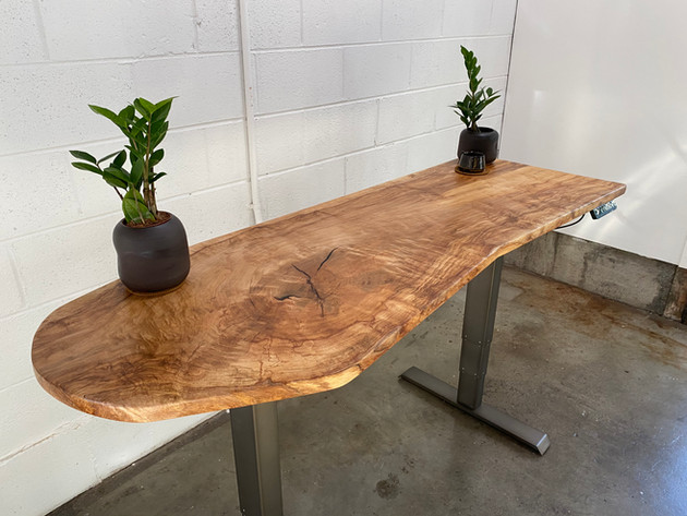Silver Maple Sit-Stand Desk