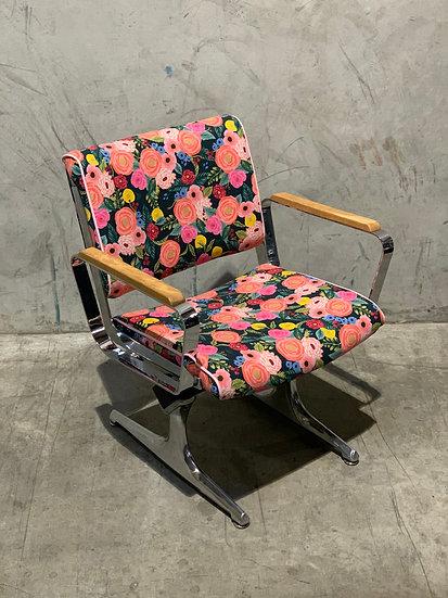PDXoriginals Powell Accent Chair - Flower Power Fabric