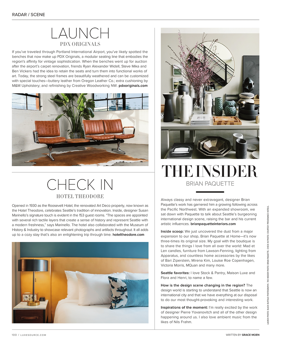 Luxe Magazine PDXoriginals Article