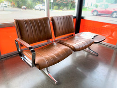 Hawthorne Brown Leather Studio Sofa at Function Performance