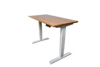 White Oak Premier Sit-Stand Office Desk