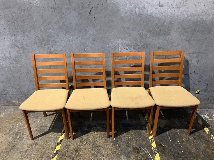 4 - Skovby Danish Modern Teak Dining Chairs
