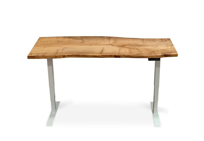 Silver Maple Slab Sit-Stand Desk