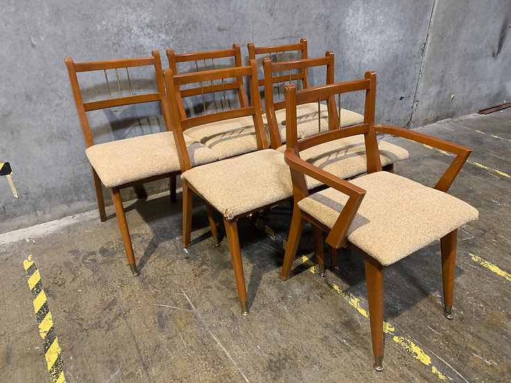 Brickwede Brothers Vintage Dining Chairs - Mid Century Furniture