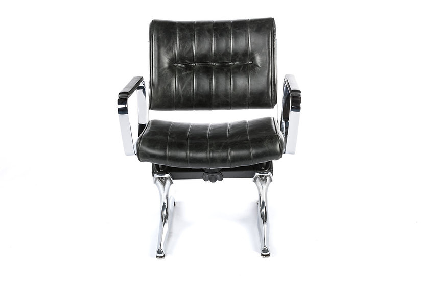PDXoriginals Powell Accent Chair - Black Leather