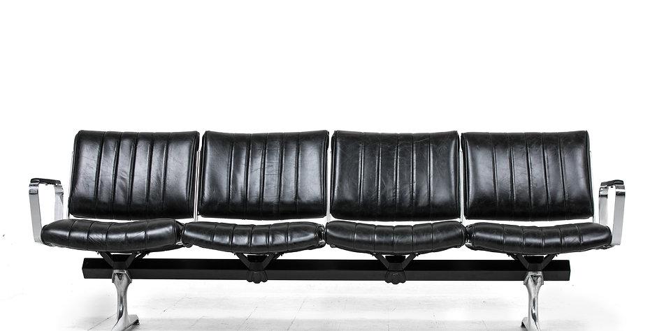 Burnside Black Leather Studio Sofa