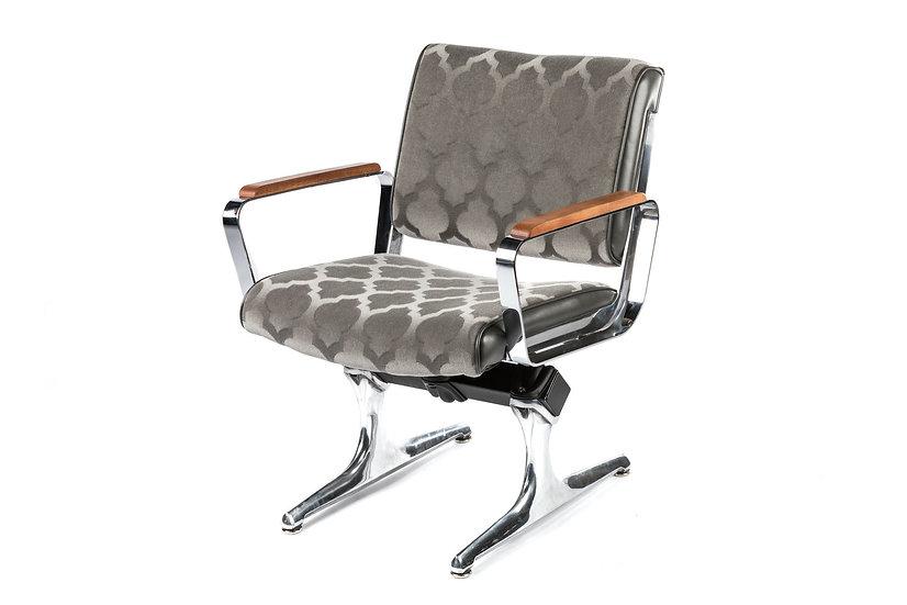PDXoriginals Powell Accent Chair - Grey Mohair