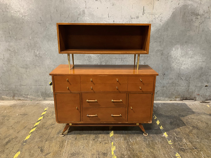 Brickwede Brothers Vintage Buffet Dresser and Media Stand - Mid Century