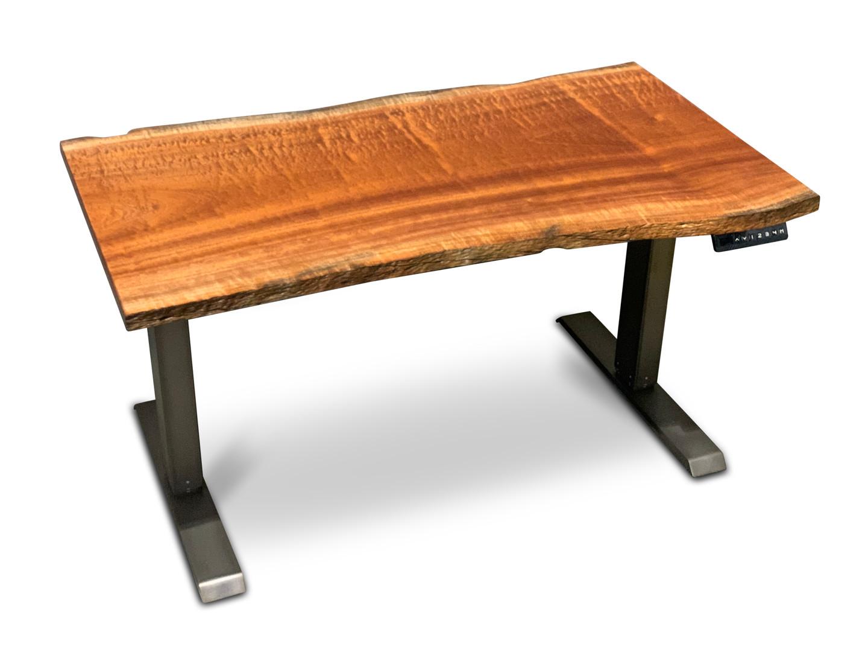Compact Sapele Live Edge Desk