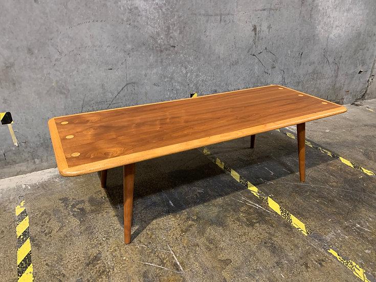 Lane Oak & Walnut Inlaid Coffee Table