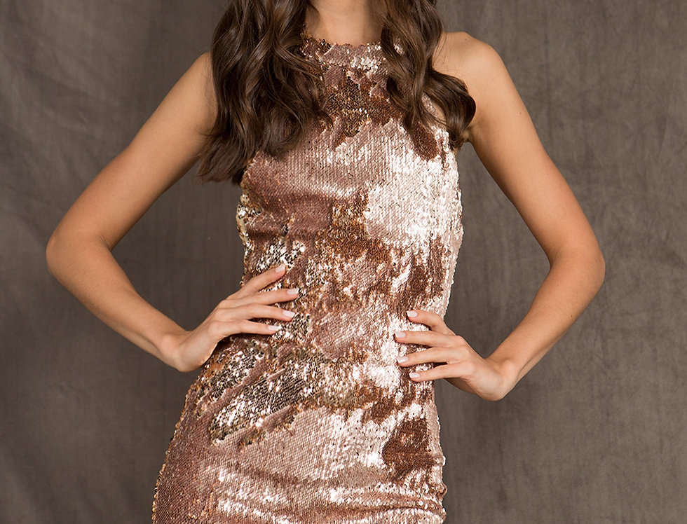 Rose Gold Nelly Dress
