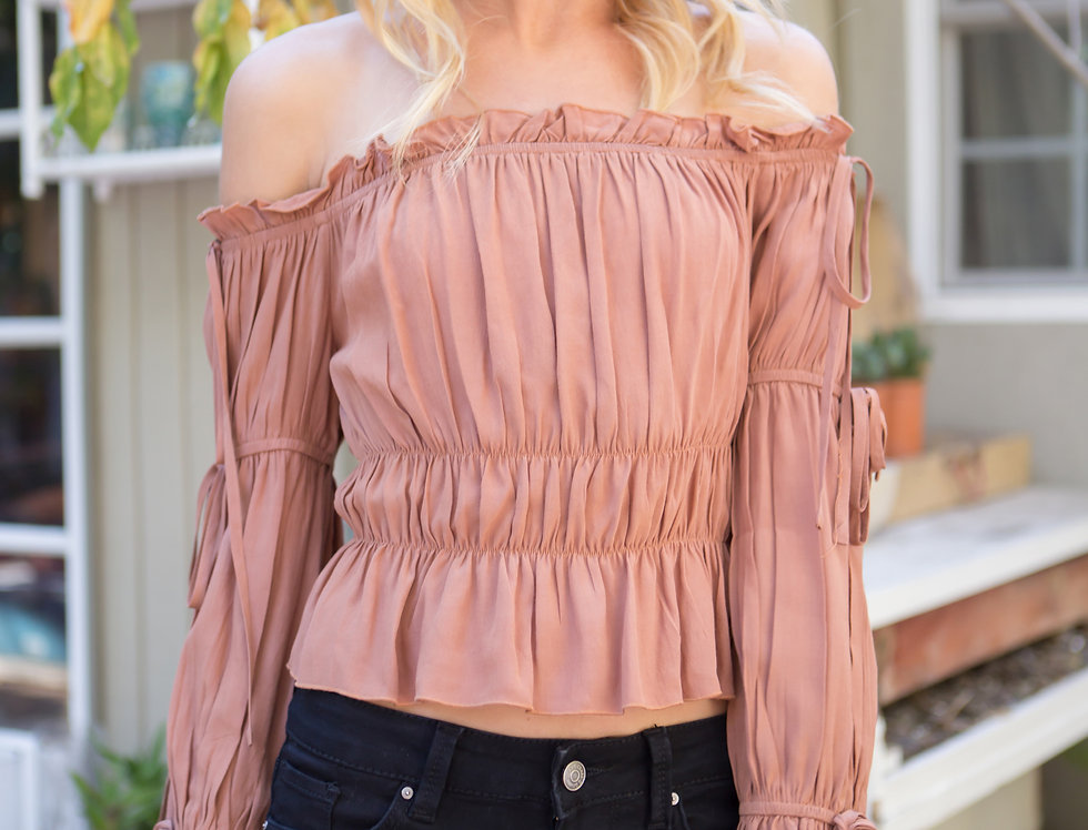 Rossie's Shirring Top