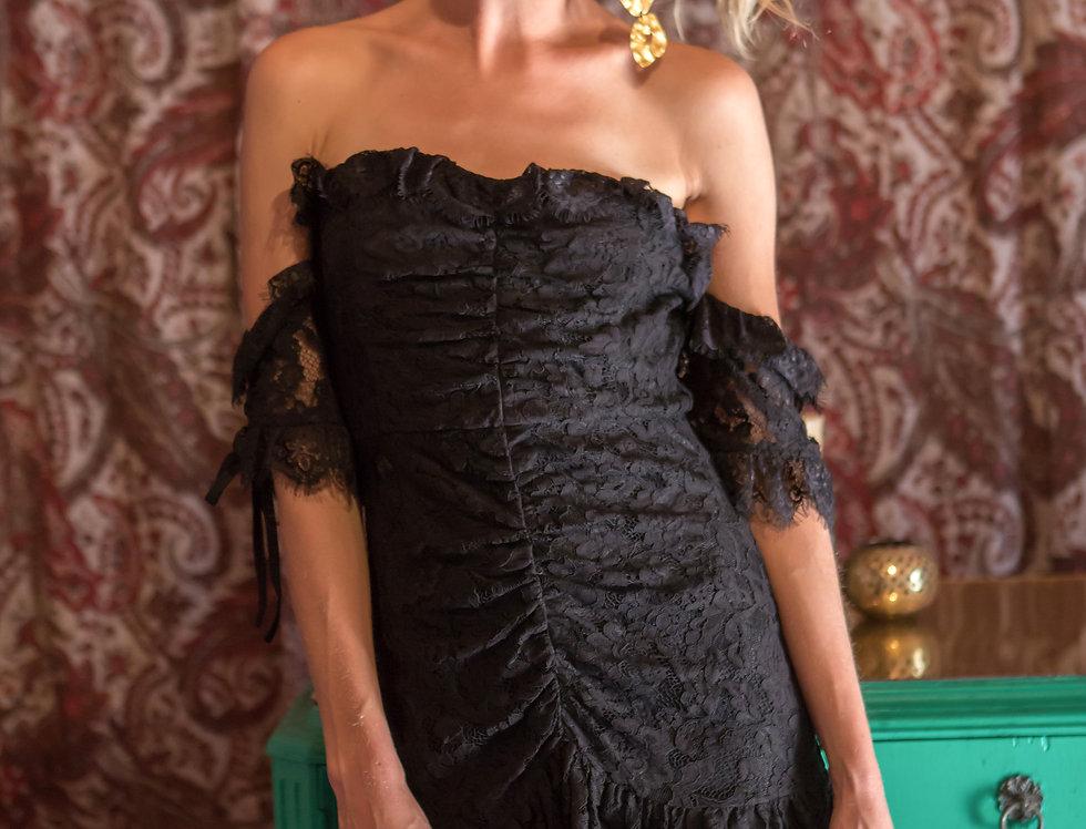 Black Lace Lover Mini Dress