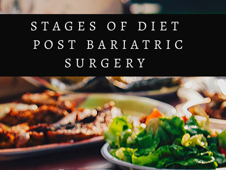 Stages of diet post bariatric surgery