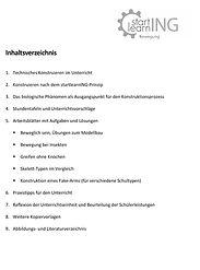startlearnING - Fake-Arm Inhaltsverzeichnis Lehrerhandreichungjpg