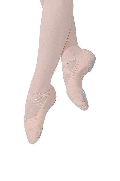 Stretch Ballettschläppchen aus Leinen