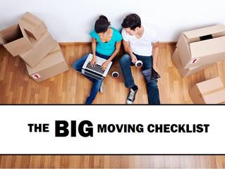 The BIG Moving Checklist