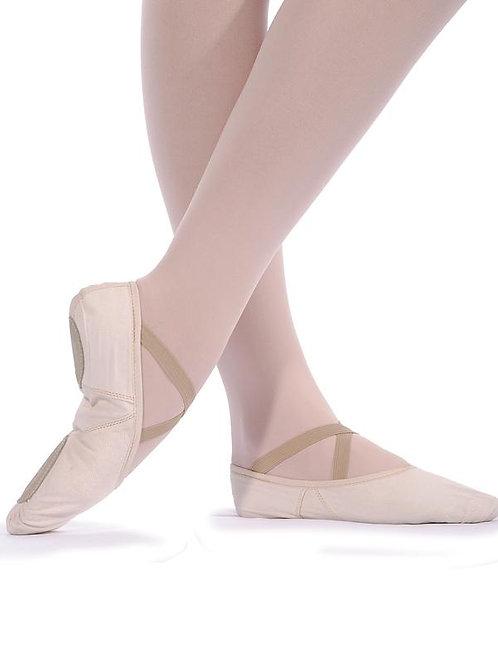 Ballettschläppchen Canvas geteilte Sohle