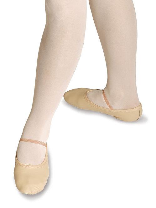 Standard Leder Ballettschläppchen m Gummispange