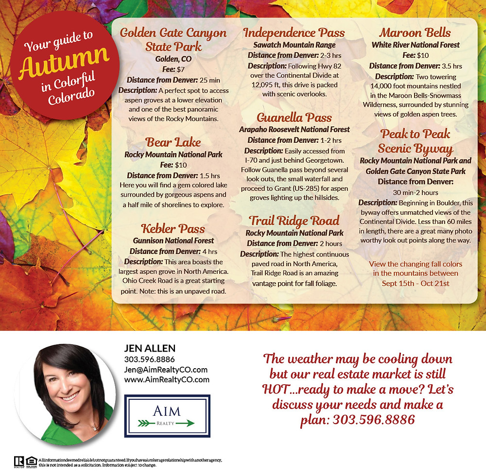Fall Foliage in Colorado 2018