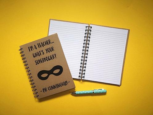 Superhero Teacher Notebook