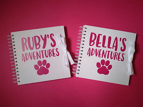Dog Paw Print Scrapbook