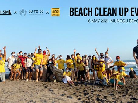 A beach cleanup event was held at Munggu Beach, Bali!