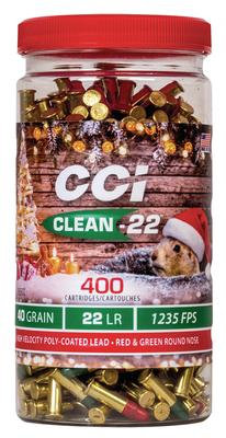 CCI Poly Coated High Velocity Red/Green Rimfire Ammunition .22LR 40gr RN 1235 fp