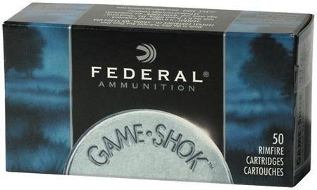 Federal Game-Shok Rimfire Ammunition .22 WMR 50 gr JHP 50/box