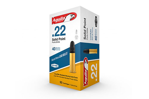 Aguilla 22LR 40GR Lead Solid Point 50rd Box