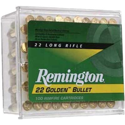 Remington Golden Bullet Rimfire Ammunition .22 LR 40 gr solid 100/box