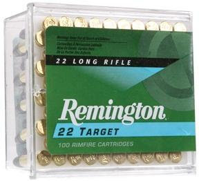 Remington Target .22 LR 40 gr RN Rimfire Ammo - 100/box