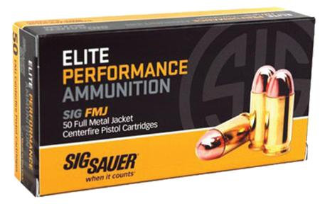 Sig Sauer Elite Performance Handgun Ammunition .40 S&W 180 gr FMJ 985 fps 50/ct