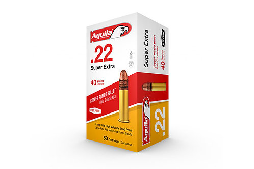Aguilla 22LR 40GR Copper Plated Solid Point 50rd Box