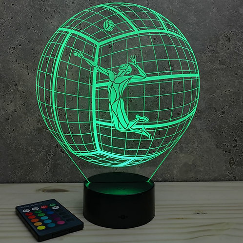 Lampe illusion 3d led Ballon de volley Smash